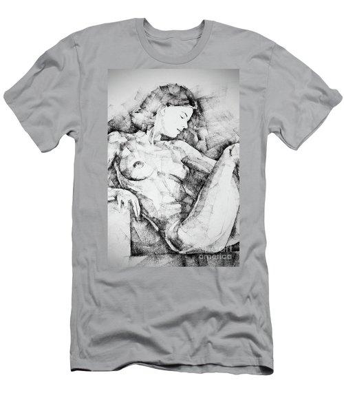 Drawing Beautiful Girl Figure Men's T-Shirt (Athletic Fit)