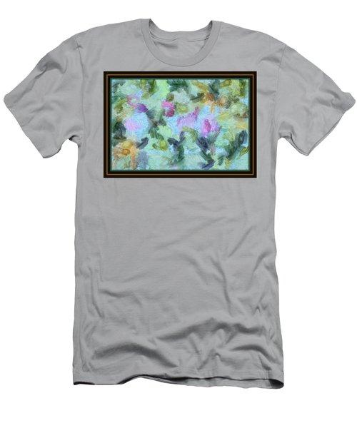 Men's T-Shirt (Slim Fit) featuring the mixed media Dream Bigger by Trish Tritz