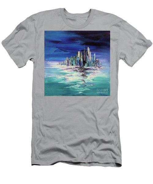 Dreamland Isle Men's T-Shirt (Slim Fit) by Tatiana Iliina
