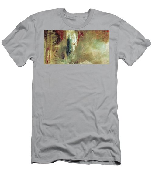 Dreams Come True - Earth Tone Art - Contemporary Pastel Color Abstract Painting Men's T-Shirt (Athletic Fit)