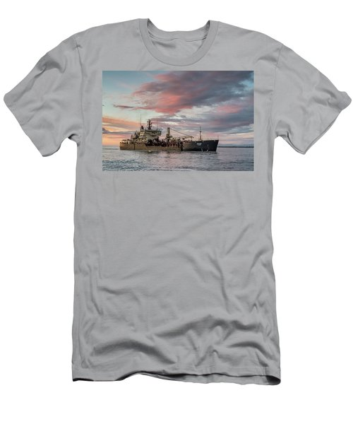 Men's T-Shirt (Slim Fit) featuring the photograph Dredging Ship by Greg Nyquist