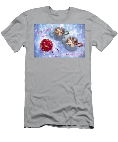 Men's T-Shirt (Athletic Fit) featuring the digital art Drink Hot Cocoa 2016 by Kathryn Strick