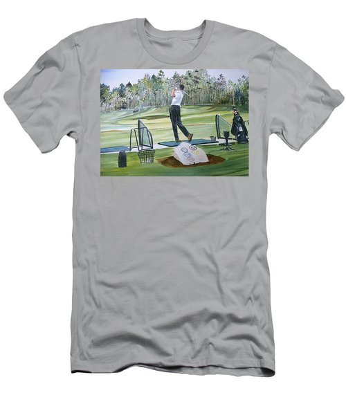 Driving Pine Hills Men's T-Shirt (Slim Fit) by P Anthony Visco