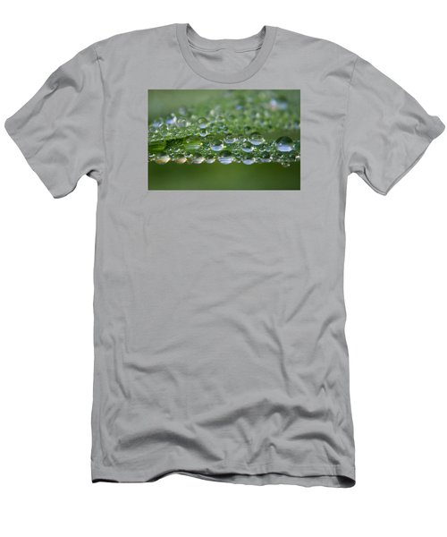 Men's T-Shirt (Slim Fit) featuring the photograph Droplets by Adria Trail