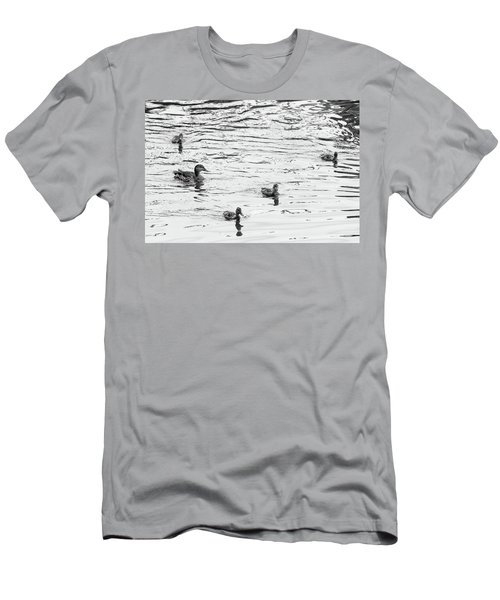 Duck And Ducklings Men's T-Shirt (Athletic Fit)