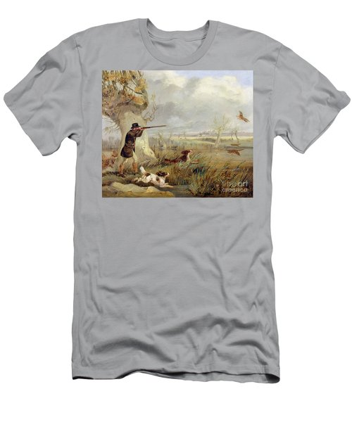Duck Shooting  Men's T-Shirt (Athletic Fit)