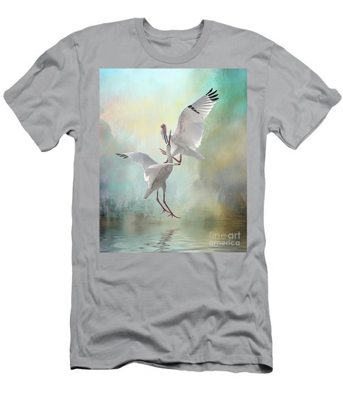 Duelling White Ibises Men's T-Shirt (Athletic Fit)