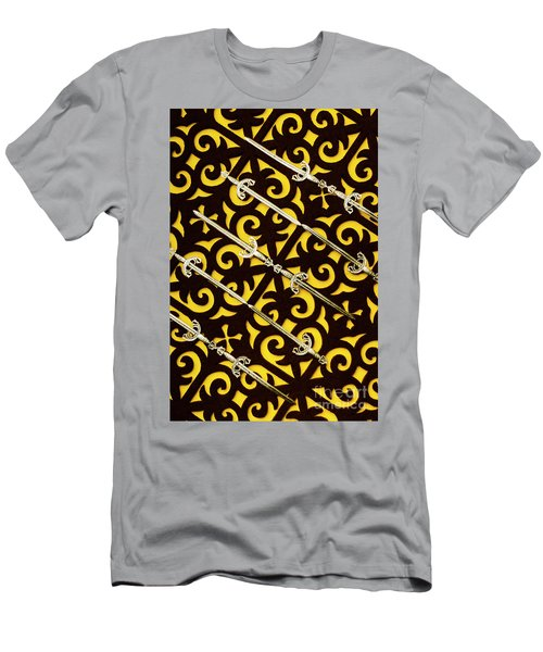Duels In Diagonal  Men's T-Shirt (Athletic Fit)