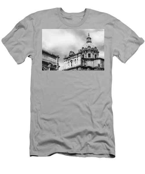 Duomo Of Santi Luca E Martina And Arch Of Septimius Severus  Men's T-Shirt (Athletic Fit)