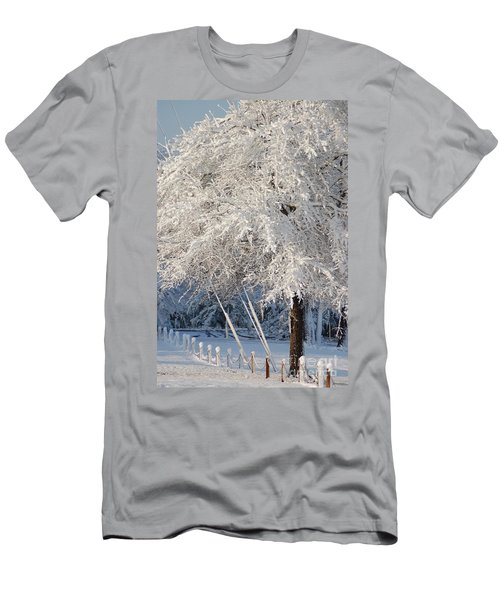 Men's T-Shirt (Athletic Fit) featuring the photograph Dusted With Powdered Sugar by Donna Bentley