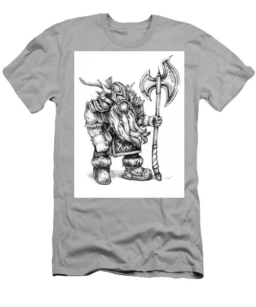 Men's T-Shirt (Athletic Fit) featuring the drawing Dwarf by Aaron Spong