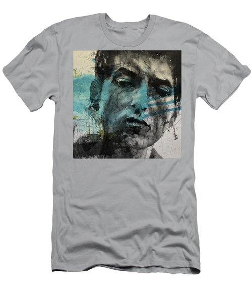 Dylan - Retro  Maggies Farm No More Men's T-Shirt (Slim Fit) by Paul Lovering