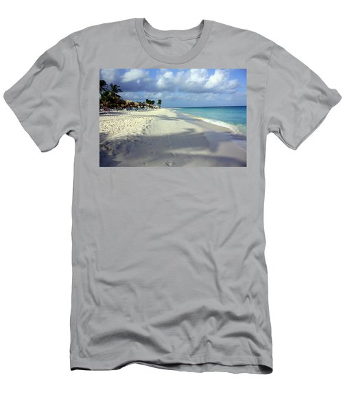 Men's T-Shirt (Slim Fit) featuring the photograph Eagle Beach Aruba by Suzanne Stout