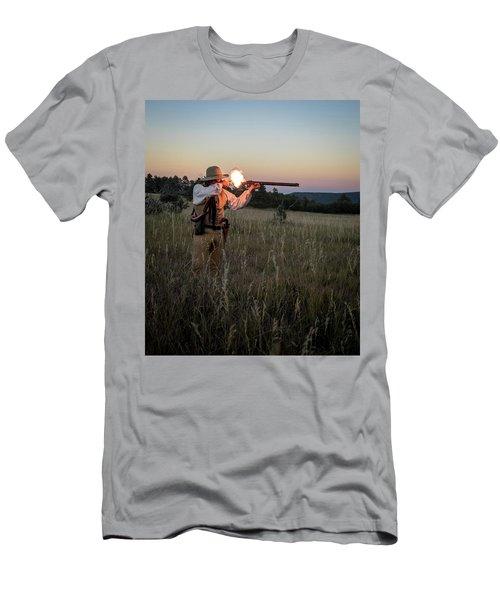 Early 1800's Flintlock Muzzleloader Blast Men's T-Shirt (Slim Fit) by Nadja Rider