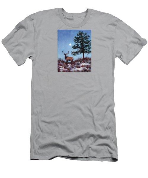 Early Morning Moon Men's T-Shirt (Slim Fit) by Jill Musser