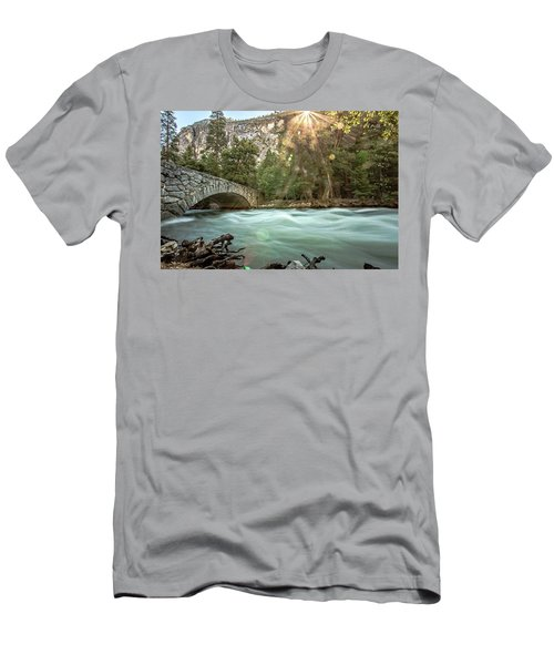 Early Morning On The Merced River Men's T-Shirt (Slim Fit) by Ryan Weddle