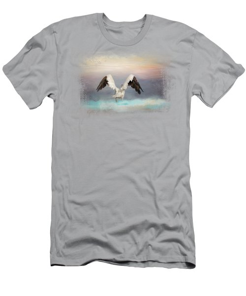 Early Morning Swim Men's T-Shirt (Slim Fit) by Jai Johnson