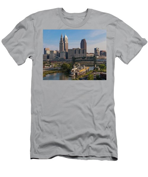 Early Morning Transport On The Cuyahoga River Men's T-Shirt (Athletic Fit)