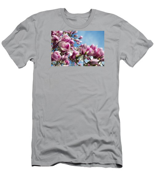 Men's T-Shirt (Athletic Fit) featuring the photograph Early Spring Magnolia by Angela DeFrias