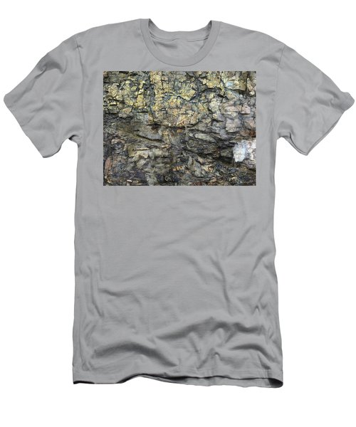 Men's T-Shirt (Slim Fit) featuring the photograph Earth Memories - Stone # 6 by Ed Hall
