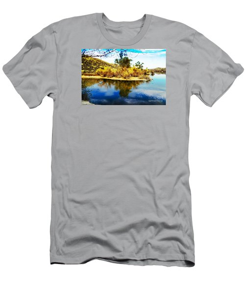 East Bay, Canyon Lake, Ca Men's T-Shirt (Slim Fit) by Rhonda Strickland