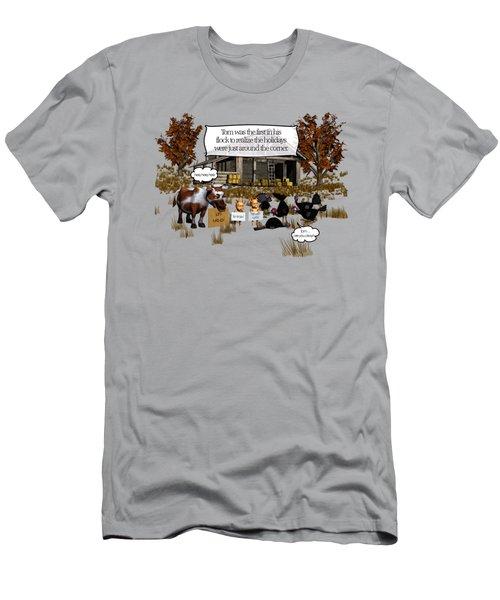 Eat More Turkey Men's T-Shirt (Athletic Fit)