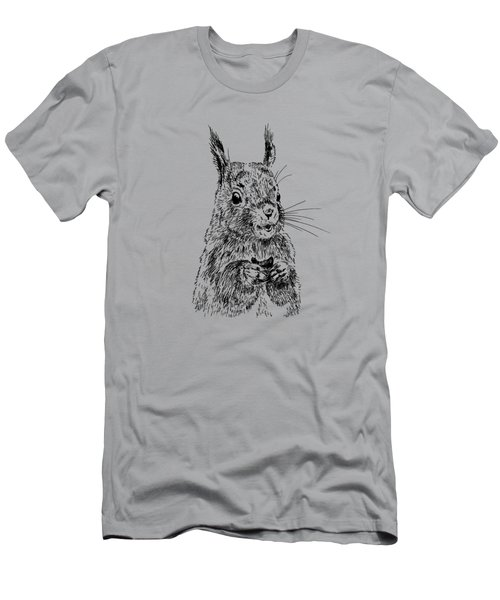 Eating Squirrel Men's T-Shirt (Slim Fit) by Masha Batkova