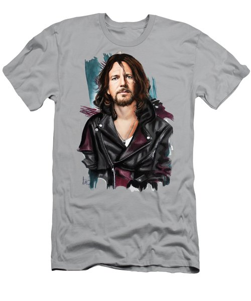 Eddie Vedder Men's T-Shirt (Slim Fit) by Melanie D