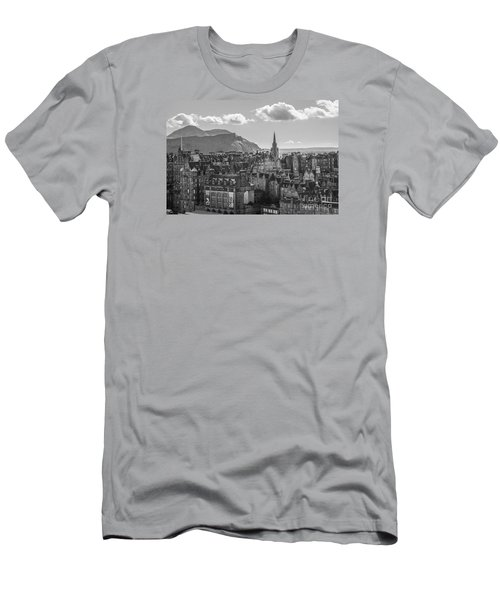 Edinburgh - Arthur's Seat Men's T-Shirt (Slim Fit) by Amy Fearn