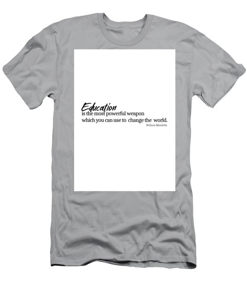 Education #minimalism Men's T-Shirt (Athletic Fit)