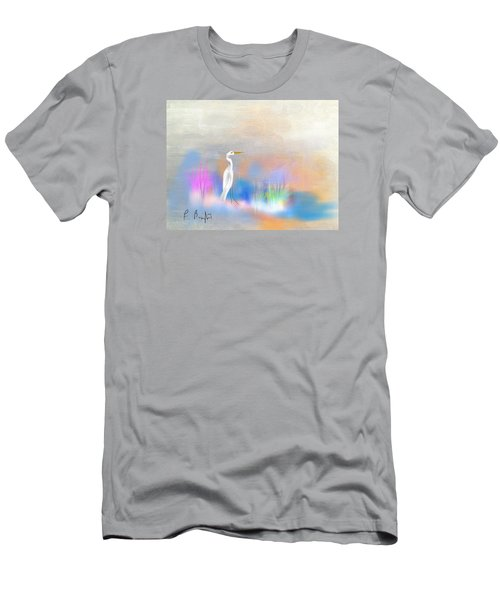 Egret Grace Abstract Men's T-Shirt (Athletic Fit)