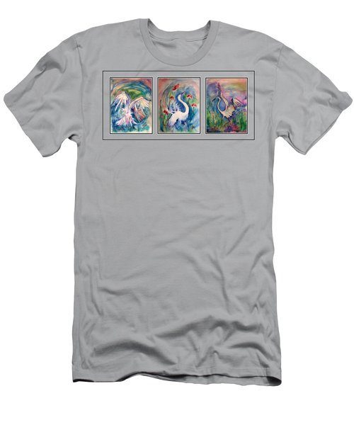 Egret Series Men's T-Shirt (Slim Fit) by Robin Monroe