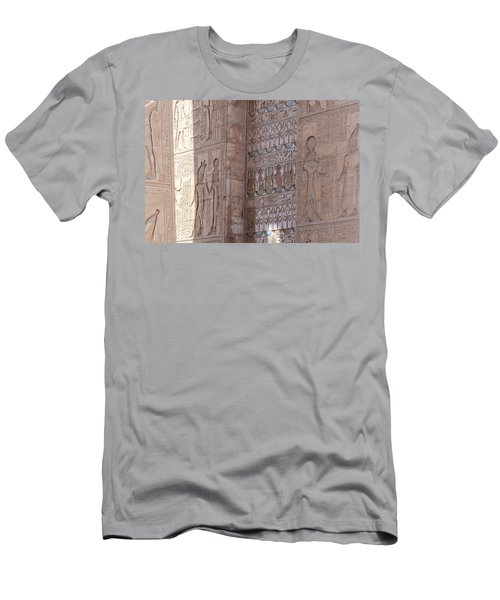 Men's T-Shirt (Athletic Fit) featuring the photograph Egyptian Hieroglyphs by Silvia Bruno