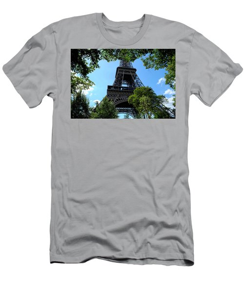 Men's T-Shirt (Athletic Fit) featuring the photograph Eiffel Through Trees by August Timmermans