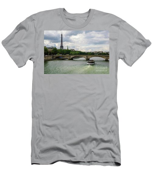 Eiffel Tower And The River Seine Men's T-Shirt (Athletic Fit)