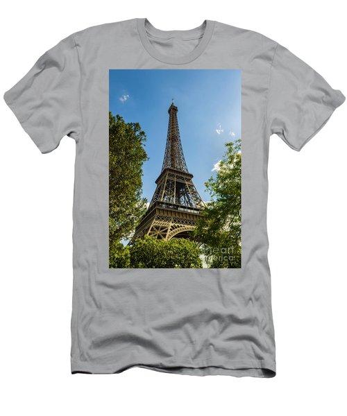 Eiffel Tower Through Trees Men's T-Shirt (Athletic Fit)