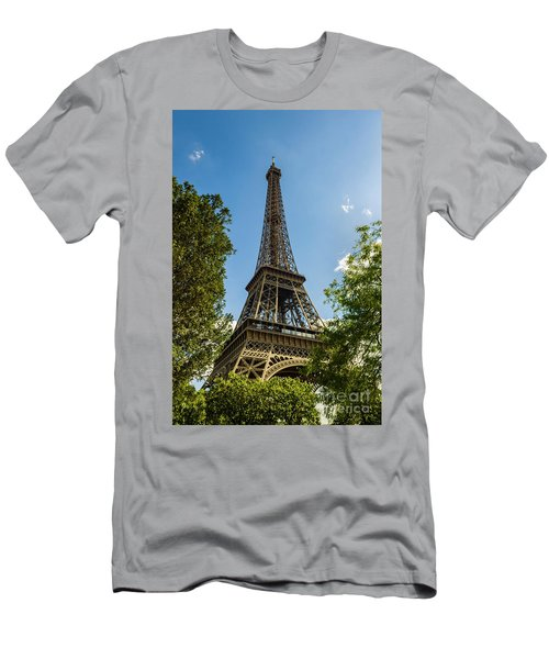 Eiffel Tower Through Trees Men's T-Shirt (Athletic Fit)