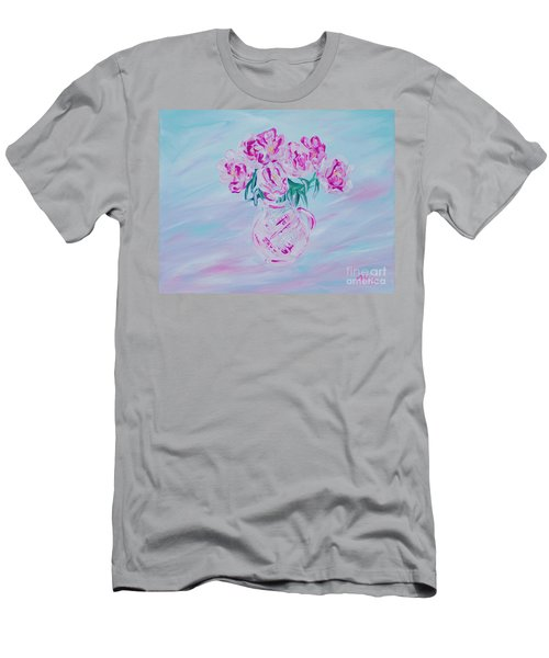 Elegant Bouquet Of Peonies. Joyful Gift. Thank You Collection Men's T-Shirt (Athletic Fit)