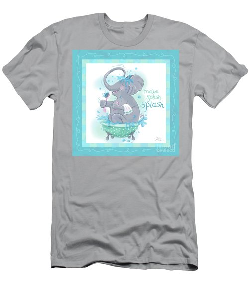 Elephant Bath Time Splish Splash Men's T-Shirt (Athletic Fit)