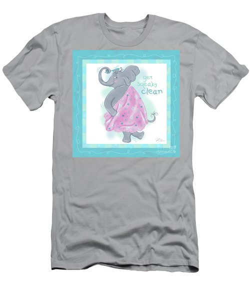 Elephant Bath Time Squeaky Clean Men's T-Shirt (Athletic Fit)