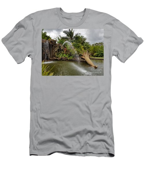 Elephant Waterfall Men's T-Shirt (Athletic Fit)