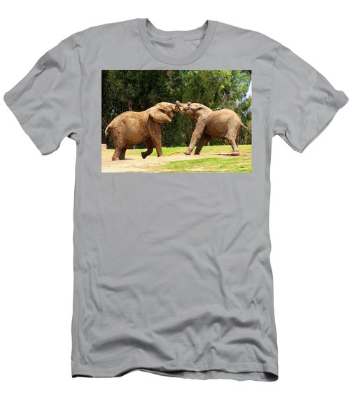 Elephants At Play 2 Men's T-Shirt (Athletic Fit)