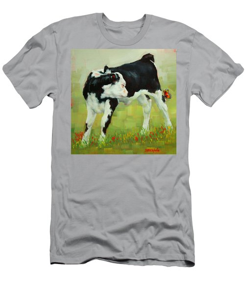 Elly The Calf And Friend Men's T-Shirt (Slim Fit) by Margaret Stockdale