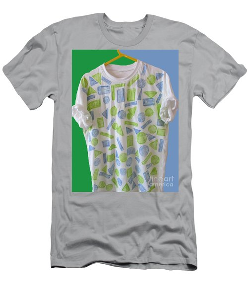 Men's T-Shirt (Slim Fit) featuring the painting Emblematic Sierra Leone Tee Shirt by Mudiama Kammoh