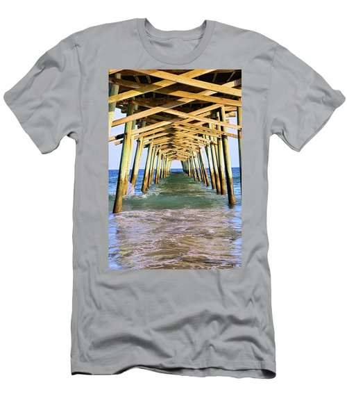 Emerald Isles Pier Men's T-Shirt (Athletic Fit)