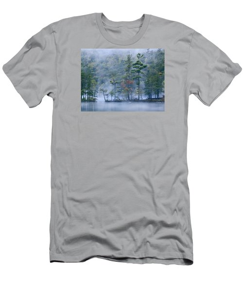 Men's T-Shirt (Athletic Fit) featuring the photograph Emerald Lake In Fog Emerald Lake State by Tim Fitzharris