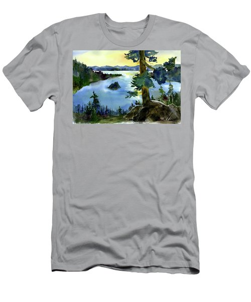 Emerald Morn, Lake Tahoe Men's T-Shirt (Athletic Fit)