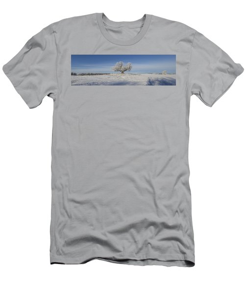 Eminija Tree With Hoarfrost Men's T-Shirt (Athletic Fit)