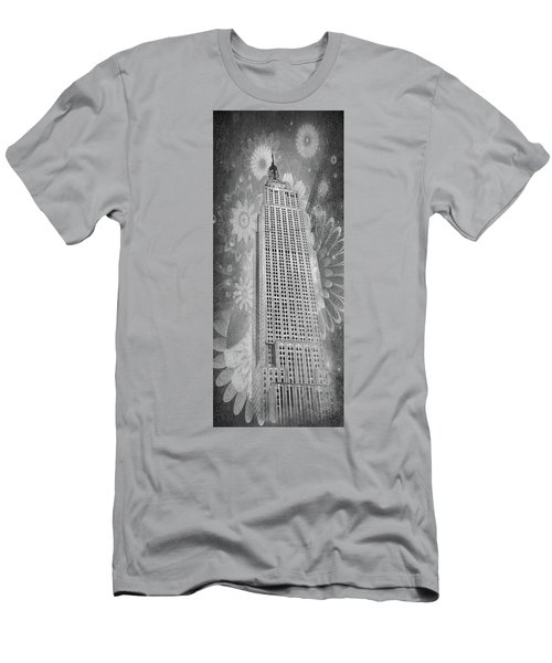 Men's T-Shirt (Athletic Fit) featuring the photograph Empire State Building by Angie Tirado