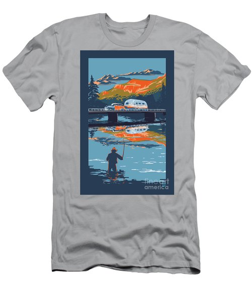 Enderby Cliffs Retro Airstream Men's T-Shirt (Athletic Fit)